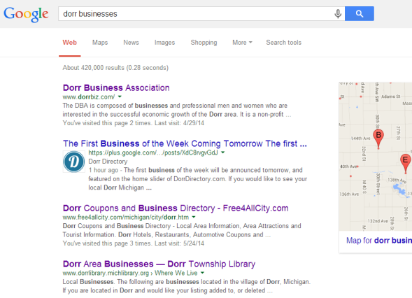 dorr businesses listings